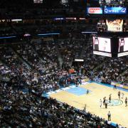 Image of a Denver Nuggets game at the Pepsi Center
