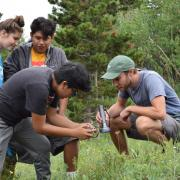 High school students explore remote sensing at the Mountain Research Station