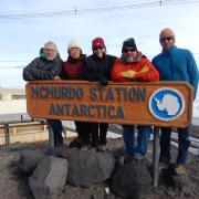 Faculty in Antarctica for research.