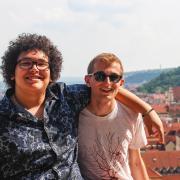 Education Abroad students overlook Prague, Czech Republic