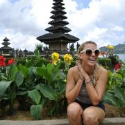 Education Abroad student in Indonesia. Photo by Rose Zilber.