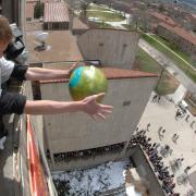 students engineering egg drop