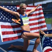 Collage featuring Emma Coburn and Jennifer Simpson