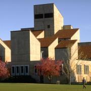 Engineering building on campus