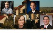 Photo collage of the four finalists selected for the position of dean of the College of Engineering and Applied Science