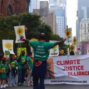 Climate Justice Alliance protesters march for environmental justice