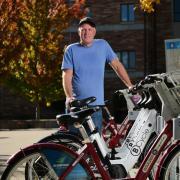 Eric Heltne at BCycle bike station