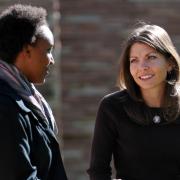 Alum mentoring a student