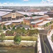 Artist rendition of the National Western Center, a net-zero campus under construction in Denver to house multiple activities