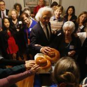 Jewish community celebrating High Holy Days