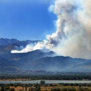A view of the Fourmile Canyon Fire burning west of Boulder in 2010.