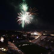 Fireworks display at Folsom Field