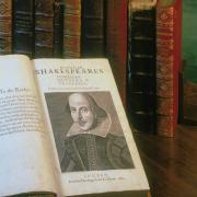Shakespeare book on display