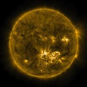 Flare erupts from the surface of the sun