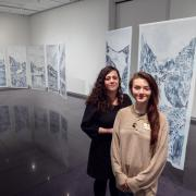 PhD candidate Maya Livio, left, and undergraduate student Valerie Foley