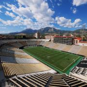An empty Folsom Field