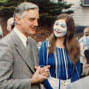 Limerick as the University Fool with Harvard President in 1983
