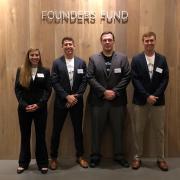 Katherine Glasheen, Justin Kanamine, John Scott and Kian Reno present at Founders Fund in San Francisco.
