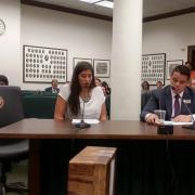 Student testifying on the economic impact of bills