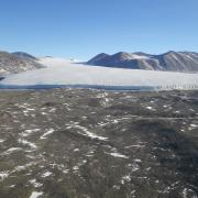 a glacial valley near the McMurdo Dry Valleys field site in Antarctica.
