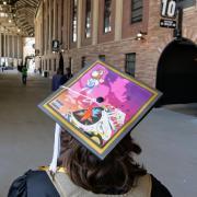 Creatively decorated graduate cap