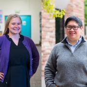 History graduate students Jill Bjerke and Sherri Sheu