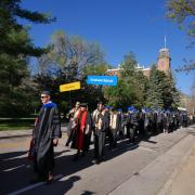Graduate School at commencement procession