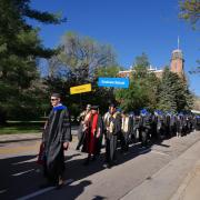 Graduate School procession during commencement
