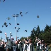 Students celebrate high school graduation