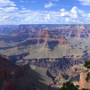 A panorama of the Grand Canyon