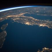 View of Italy from space