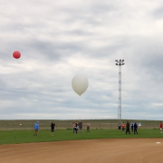 Science Discovery students send a high-altitude balloon into the air