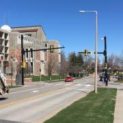 HAWK traffic signal at Regent Drive