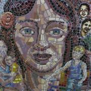 Mosaic depicting Latino History in Boulder County