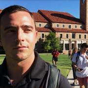 Tanner Scholvin on CU Boulder campus