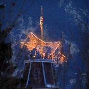 Holiday star in the Flatirons