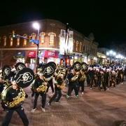 Homecoming parade at Pearl Street