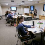 Lauren Harris leads HR training class for supervisors