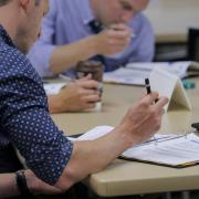 Employees participate in supervisor training at CU Boulder