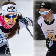 CU Boulder skiers Petter Reistad and Petra Hyncicova