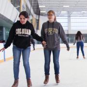 Ice skating at the rec.