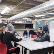 Students at Idea Forge