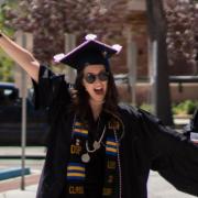 Graduates wearing regalia.