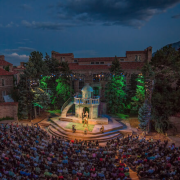 A performance on the Colorado Shakespeare Festival stage