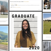 A collage of social media posts celebrating 2020 commencement