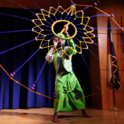 A performer at CU Live! during the fall 2018 CU system Diversity and Inclusion Summit