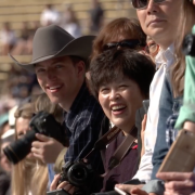 Spectators at the commencement ceremony, 2018.