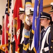 CU Boulder Joint ROTC Color Guard at the 2017 Veterans Day Ceremony