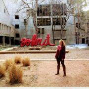 The Go For It installation is on exhibit outside the Engineering Center at CU Boulder