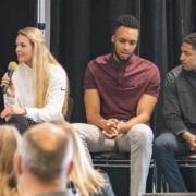 Panelists speak at a past Inclusive Sports Summit